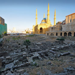 Excavation site in the Downtown of Beirut, Lebanon amongst the modern building 27 April 2014. Matthias Tödt